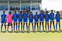 Bradenton, FL - Sunday, June 12, 2018: Haiti Starting XI prior to a U-17 Women's Championship 3rd place match between Canada and Haiti at IMG Academy. Canada defeated Haiti 2-1.