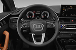 Car pictures of steering wheel view of a 2021 Audi A4-allroad Premium-Plus 5 Door Wagon Steering Wheel