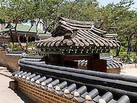 Beim Pavillon Jeongghwanheon im Palast Deoksugung in Seoul, Südkorea, Asien<br /> at pavilion Jeonghwanheon in palace Deoksugung, Seoul, South Korea, Asia
