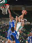 North Texas Mean Green forward Tony Mitchell (13) in action during the game between the New Orleans Privateers and the University of North Texas Mean Green at the North Texas Coliseum,the Super Pit, in Denton, Texas. UNT defeated UNO 78 to 47.....