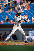 West Michigan Whitecaps left fielder Danny Woodrow (8) at bat during the first game of a doubleheader against the Lake County Captains on August 6, 2017 at Classic Park in Eastlake, Ohio.  Lake County defeated West Michigan 4-0.  (Mike Janes/Four Seam Images)