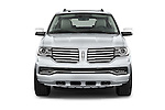 Car photography straight front view of a2015 Lincoln Navigator Select 5 Door SUV Front View