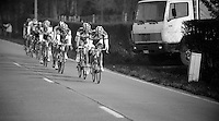 Nokere Koerse 2012.Team Vacansoleil-DCM in pursuit