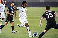 SAN JOSE, CA - SEPTEMBER 19: Jeremy Ebobisse #17 of the Portland Timbers during a game between Portland Timbers and San Jose Earthquakes at Earthquakes Stadium on September 19, 2020 in San Jose, California.