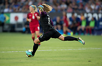 Carson, CA - Thursday August 03, 2017: Alyssa Naeher during a 2017 Tournament of Nations match between the women's national teams of the United States (USA) and Japan (JAP) at StubHub Center.