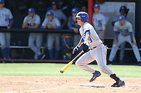 Woody Woodward (9) of the UC Santa Barbara Gouchos bats during a game against the Cal State Northridge Matadors at Matador Field on April 10, 2015 in Northridge, California. UC Santa Barbara defeated Cal State Northridge, 7-4. (Larry Goren/Four Seam Images)