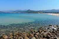 Badestrand am Golf de la Liscia, Korsika, Frankreich