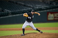 AZL White Sox relief pitcher Ryan Riga (84) delivers a pitch to the plate against the AZL Cubs on August 13, 2017 at Sloan Park in Mesa, Arizona. AZL White Sox defeated the AZL Cubs 7-4. (Zachary Lucy/Four Seam Images)