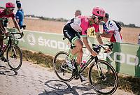 Taylor Phinney (USA/Education First-Drapac) on pavé sector #3<br /> <br /> Stage 9: Arras Citadelle > Roubaix (154km)<br /> <br /> 105th Tour de France 2018<br /> ©kramon