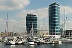 St Marys Island Chatham Kent. Yacht marina and new apartment blocks
