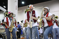 6 April 2008: Stanford Cardinal Band during Stanford's Battle of the Band contest in the 2008 NCAA Division I Women's Basketball Final Four at the Tampa Convention Center in Tampa, FL.