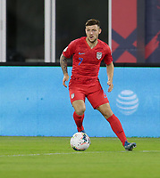 WASHINGTON, D.C. - OCTOBER 11: Paul Arriola #7 of the United States looks downfield for an open man during their Nations League game versus Cuba at Audi Field, on October 11, 2019 in Washington D.C.