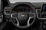 Car pictures of steering wheel view of a 2021 Chevrolet Tahoe LT 5 Door SUV Steering Wheel