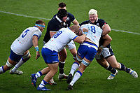Niccolo Cannone, Pietro Ceccarelli and Jake Polledri of Italy against Zander Fagerson and Oli Kebble (R) of Scotland during the rugby Autumn Nations Cup's match between Italy and Scotland at Stadio Artemio Franchi on November 14, 2020 in Florence, Italy. Photo Andrea Staccioli / Insidefoto
