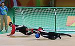 Ahmad Zeividavi, Rio 2016 - Goalball.<br /> Team Canada plays Brazil in the men's goalball // Équipe Canada affronte le Brésil au goalball masculin. 09/09/2016.