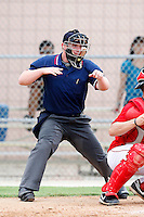 July 14, 2009:  Home plate umpire Gavin Hanson during a game at Ft Myers Training Complex in Fort Myers, FL.  Photo By Mike Janes/Four Seam Images