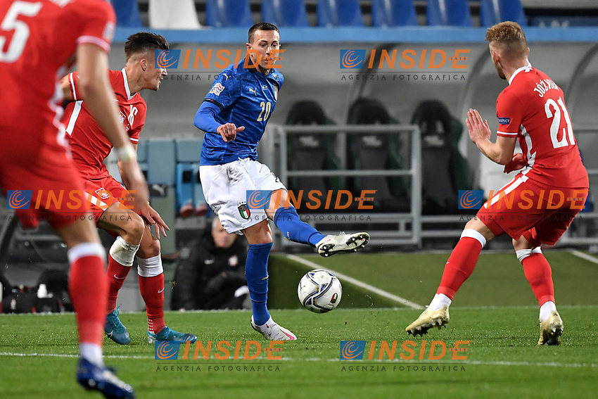 Federico Bernardeschi of Italy in action during the Uefa Nation League Group Stage A1 football match between Italy and Poland at Citta del Tricolore Stadium in Reggio Emilia (Italy), November, 15, 2020. Photo Andrea Staccioli / Insidefoto
