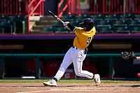 Erie SeaWolves Daniel Cabrera (38) bats during a game against the Harrisburg Senators on September 5, 2021 at UPMC Park in Erie, Pennsylvania.  (Mike Janes/Four Seam Images)