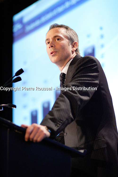Montreal (QC) Canada,April 30,2007<br /> <br /> Thierry Vandal, CEO, Hydro Quebec<br /> speak about the green future of Hydro-Quebec, the state owned energy provider for Quebec province, ,April 30,2007<br /> <br /> <br /> photo (c) 2007  Pierre Roussel-  Images Distribution