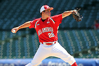 Pitcher Nick Burdi (28) during the 2010 Under Armour All-American Game powered by Baseball Factory at Wrigley Field in Chicago, New York;  August 14, 2010.  Photo By Mike Janes/Four Seam Images