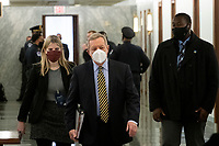 United States Senator Dick Durbin (Democrat of Illinois) arrives for Merrick Garland's Senate Committee on the Judiciary confirmation hearing to be Attorney General, Department of Justice, in the Hart Senate Office Building in Washington, DC, Monday, February 22, 2021. Credit: Rod Lamkey / CNP /MediaPunch