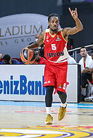 13th October 2021; Wizink Center; Madrid, Spain; Turkish Airlines Euroleague Basketball; game 3; Real Madrid versus AS Monaco; Paris Lee (AS Monaco) sets the play during the match