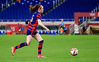 SAITAMA, JAPAN - JULY 24: Rose Lavelle #16 of the United States moves with the ball during a game between New Zealand and USWNT at Saitama Stadium on July 24, 2021 in Saitama, Japan.