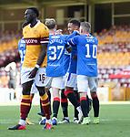 27.09.2020 Motherwell v Rangers:  James Tavernier scores his second penatly kick and celebrates