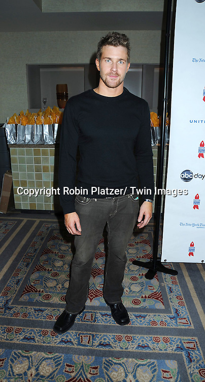 """Josh Kelly  posing for photographers at The ABC Daytime Salutes Broadway Cares/ Equity Fights Aids """" An Evening of Musical Entertainment and Comedy""""  Benefit after party  on March 13, 2011 at the Marriott Marquis Hotel in New York City."""