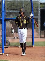 Reggie Preciado - San Diego Padres 2020 spring training (Bill Mitchell)