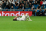 Real Madrid's Marcelo Vieira injured during UEFA Champions League match between Real Madrid and FC Viktoria Plzen at Santiago Bernabeu Stadium in Madrid, Spain. October 23, 2018. (ALTERPHOTOS/A. Perez Meca)