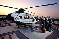 Photography of the MedCenter Air team at Carolinas Medical Center, in Charlotte, North Carolina.