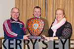 Micheal O Currain (Piarsaigh Na Dromoda/Waterville) and Marian O'Dwyer (Piarsaigh Na Dromoda/Waterville) were presented with The Bob Walsh Memorial Shield for Coiste na nÓg Chiarraí  Joint Club of the Year Award by Tom Keane (Chairman Coiste na nÓg Chiarraí ) at the AGM in Kerins O'Rahilly GAA Club on Thursday