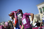 Maglia Ciclamino French Champion Arnaud Demare (FRA) Groupama-FDJ at sign on before the start of Stage 8 of the 103rd edition of the Giro d'Italia 2020 running 200km from Giovinazzo to Vieste, Sicily, Italy. 10th October 2020.  <br /> Picture: LaPresse/Marco Alpozzi | Cyclefile<br /> <br /> All photos usage must carry mandatory copyright credit (© Cyclefile | LaPresse/Marco Alpozzi)