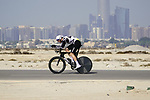Louis Meintjes (RSA) Team Qhubeka Assos during Stage 2 of the 2021 UAE Tour an individual time trial running 13km around  Al Hudayriyat Island, Abu Dhabi, UAE. 22nd February 2021.  <br /> Picture: Eoin Clarke | Cyclefile<br /> <br /> All photos usage must carry mandatory copyright credit (© Cyclefile | Eoin Clarke)