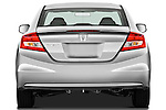 Straight rear view of a 2012 Honda Civic Coupe EX