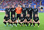 14th August 2013 - Cardiff - UK : Wales v Republic of Ireland - Vauxhall International Friendly at Cardiff City Stadium : The Republic of Ireland team pose for a team photo ahead of kick off.