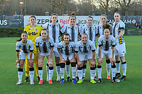 team picture Charleroi ( goalkeeper Laurie Filleur (21) of Charleroi , Noemie Fourdin (11) of Charleroi , Madison Hudson (8) of Charleroi , Alisson Duterne (14) of Charleroi , Ludmila Matavkova (9) of Charleroi , Estelle Dessilly (13) of Charleroi and Jessica da Silva Valdebenito ( Zapata ) (18) of Charleroi , Renate Mehevets (15) of Charleroi , Jennifer Bouchenna (17) of Charleroi , Megane Vos (20) of Charleroi , Ines Dhaou (5) of Charleroi ) before a female soccer game between Sporting Charleroi and Oud Heverlee Leuven on the 17 th matchday of the 2020 - 2021 season of Belgian Scooore Womens Super League , tuesday 30 th of March 2021  in Marcinelle , Belgium . PHOTO SPORTPIX.BE | SPP | STIJN AUDOOREN
