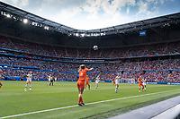 LYON, FRANCE - JULY 07: Stefanie Van Der Gragt during a game between Netherlands and USWNT at Stade de Lyon on July 07, 2019 in Lyon, France.