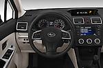 Car pictures of steering wheel view of a 2015 Subaru Impreza 2.0I Auto 4 Door Hatchback Steering Wheel