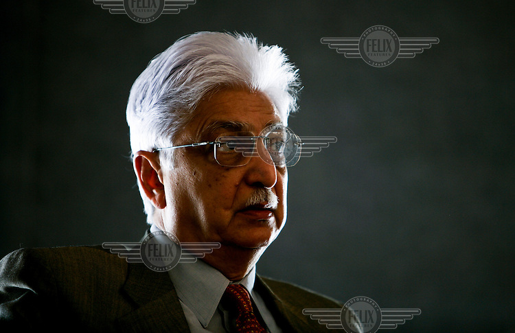Azim Premji, one of India's richest men (worth an estimated 14.8 billion USD in 2006), is the chairman of Wipro, India's largest technology company.