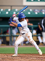 Newberry Panthers infielder Makai Johnson (2) during the 42nd Annual FACA All-Star Baseball Classic on June 6, 2021 at Joker Marchant Stadium in Lakeland, Florida.  (Mike Janes/Four Seam Images)