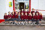 Nineteen of the twenty one new juniors who started school at St Finians NS Waterville on Tuesday pictured here front l-r; Maisie Daly, Raena Duff, Sadie Doyle, Annika Hitmiangsong, Fia O'Shea, Alexandra Maguire, Ally Shanahan, Clodagh Carey, Casey Newell, Ava Courtney, Molly Carey, back l-r; Cíalan Walsh, Nathan Galvin, Eoin Huggard-O'Connor, Kayden Neary, James Fitzgerald, William Kennedy, Daniel Higgins, John O'Shea & missing from photo Luke Murphy & Dáire Sheehy.