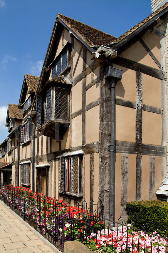 House of famous writer William Shakespeare in Stratford Upon Avon, West Midlands, Great Britian, England
