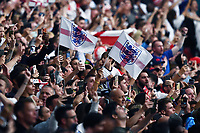 11th July 2021; Wembley Stadium, London, England; 2020 European Football Championships Final England versus Italy; English fans in the stadium as they take the lead in minute 2