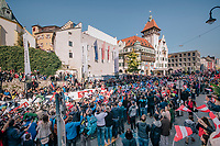 race start in Kufstein<br /> <br /> MEN ELITE ROAD RACE<br /> Kufstein to Innsbruck: 258.5 km<br /> <br /> UCI 2018 Road World Championships<br /> Innsbruck - Tirol / Austria