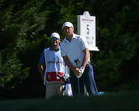 Bethesda, MD - June 28, 2014: Jordan Spieth follows his tee shot on hole 5 in the third round of the Quicken Loans National at the Congressional Country Club in Bethesda, MD, June 28, 2014.  (Photo by Don Baxter/Media Images International)