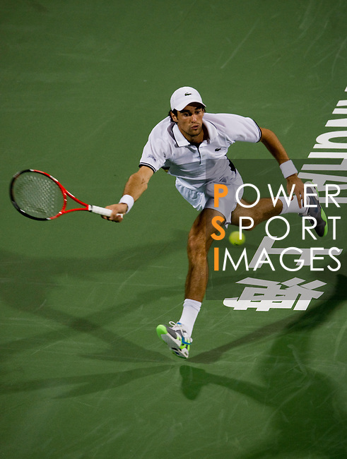 SHANGHAI, CHINA - OCTOBER 11:  Jeremy Chardy of France returns a ball to Marcos Baghdatis of Cyrus during day one of the 2010 Shanghai Rolex Masters at the Shanghai Qi Zhong Tennis Center on October 11, 2010 in Shanghai, China.  (Photo by Victor Fraile/The Power of Sport Images) *** Local Caption *** Jeremy Chardy