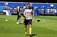 Murray Wallace of Millwall warming up during Queens Park Rangers vs Millwall, Sky Bet EFL Championship Football at Loftus Road Stadium on 18th July 2020