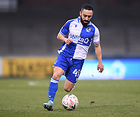 9th January 2021; Memorial Stadium, Bristol, England; English FA Cup Football, Bristol Rovers versus Sheffield United; Erhun Oztumer of Bristol Rovers brings the ball forward